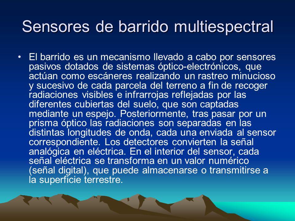 Sensores de barrido multiespectral