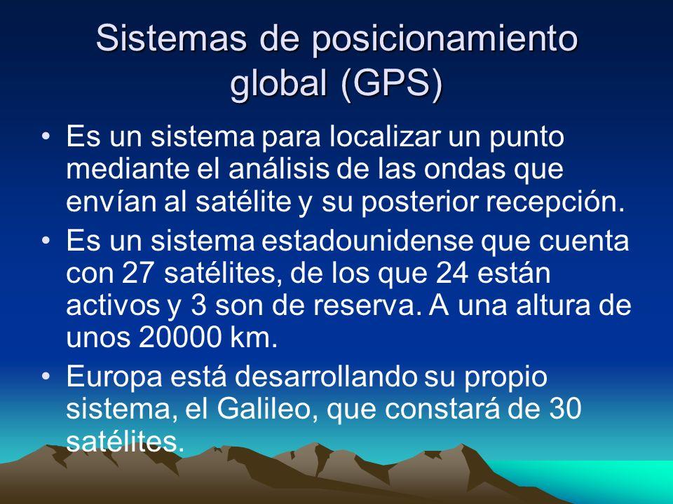 Sistemas de posicionamiento global (GPS)
