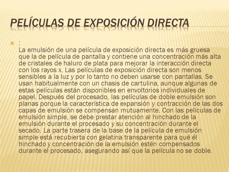 Películas de exposición directa