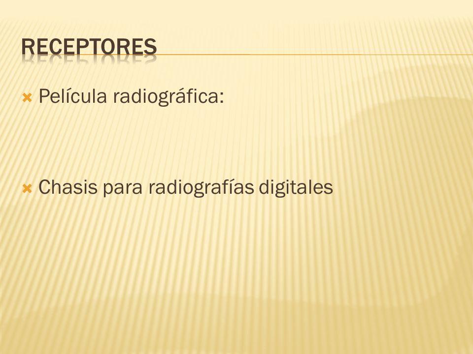 receptores Película radiográfica: Chasis para radiografías digitales
