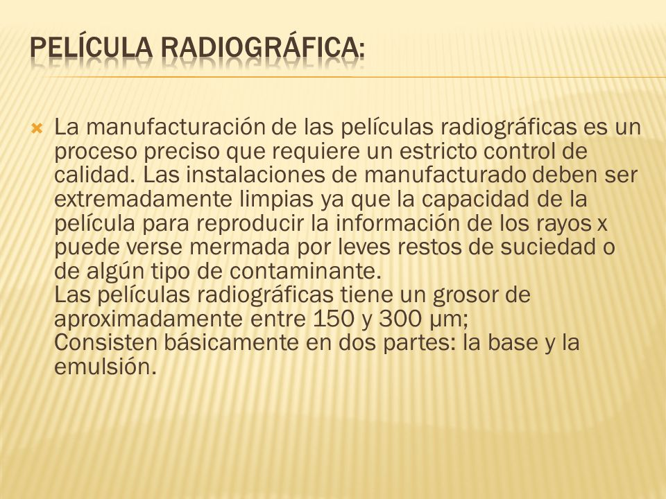 Película radiográfica: