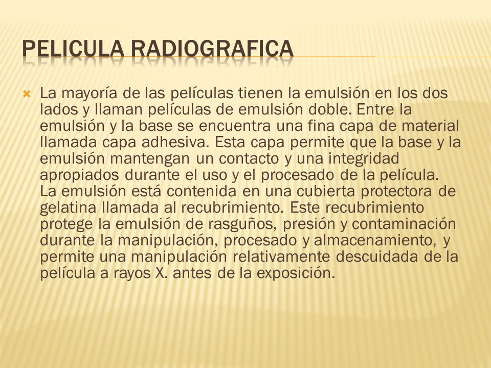 PELICULA RADIOGRAFICA