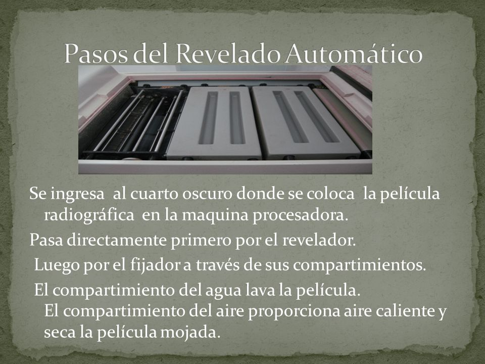 Pasos del Revelado Automático