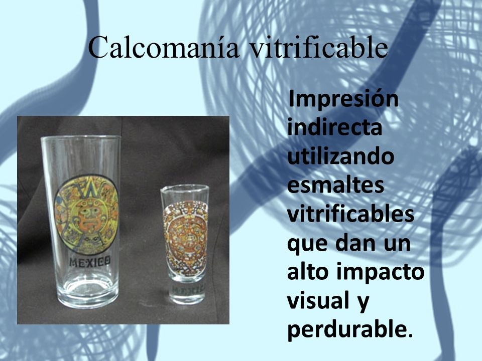 Calcomanía vitrificable