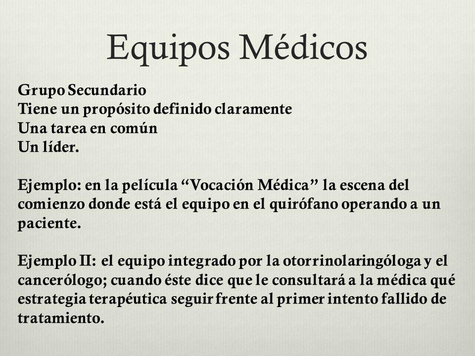 Equipos Médicos Grupo Secundario
