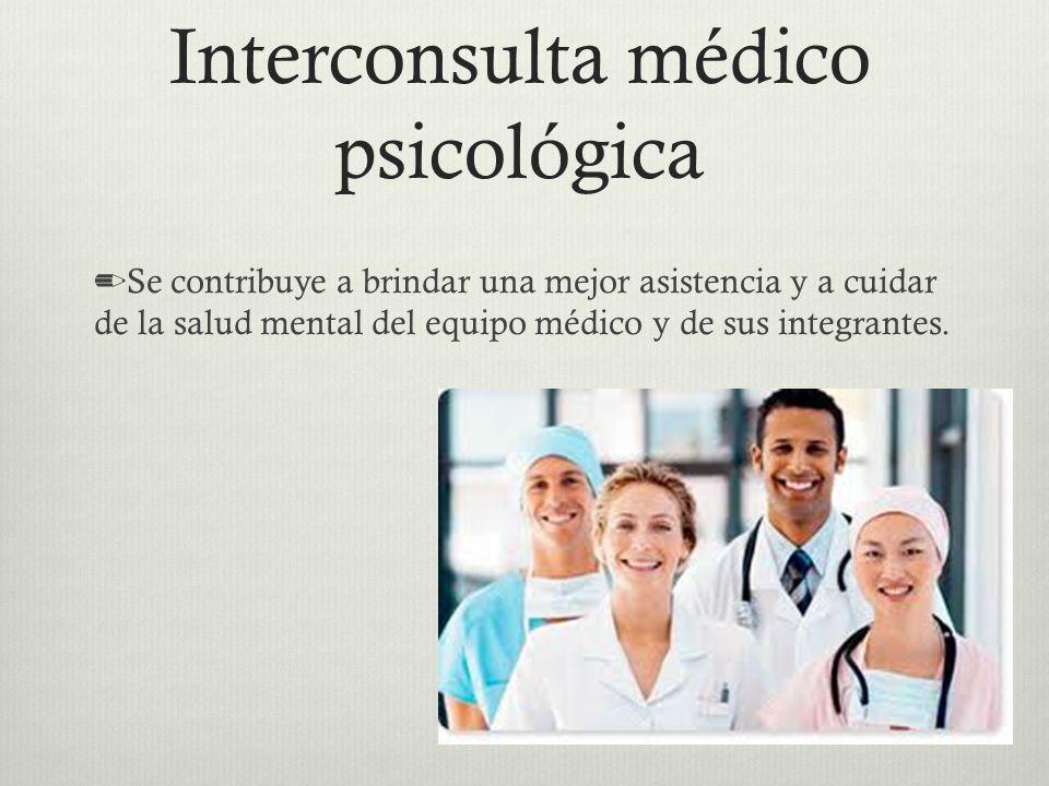Interconsulta médico psicológica