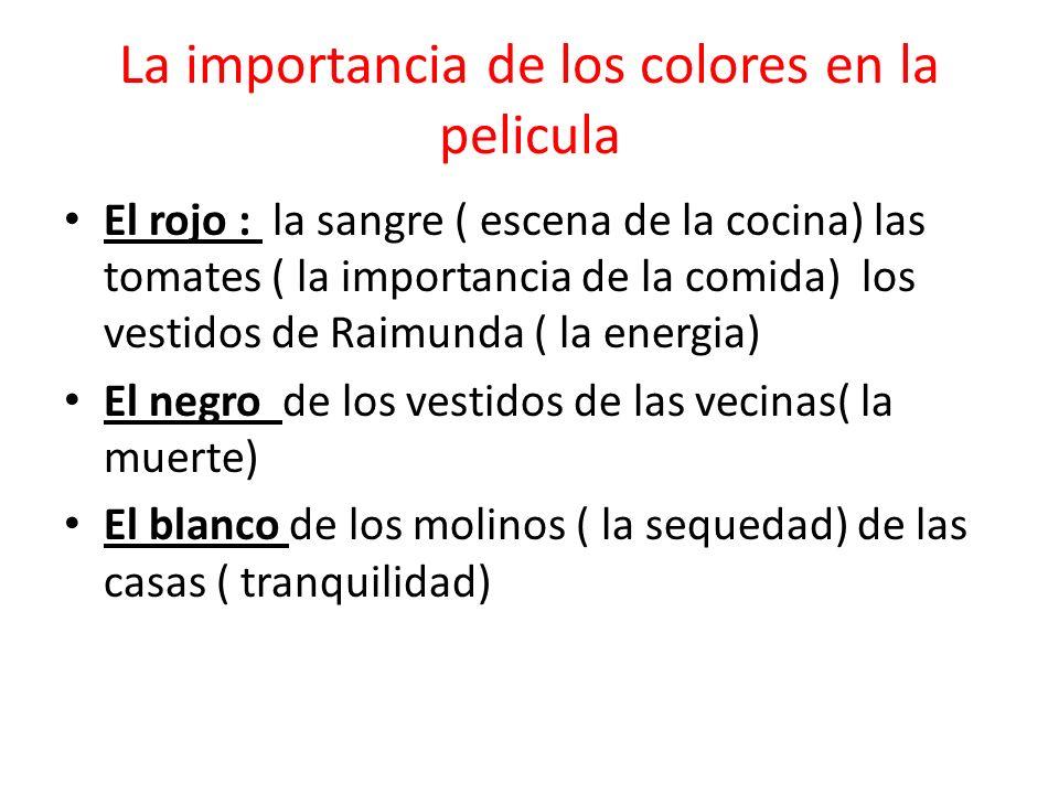 La importancia de los colores en la pelicula