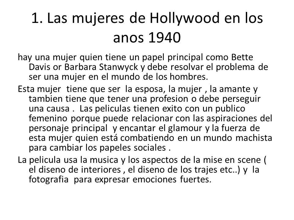 1. Las mujeres de Hollywood en los anos 1940