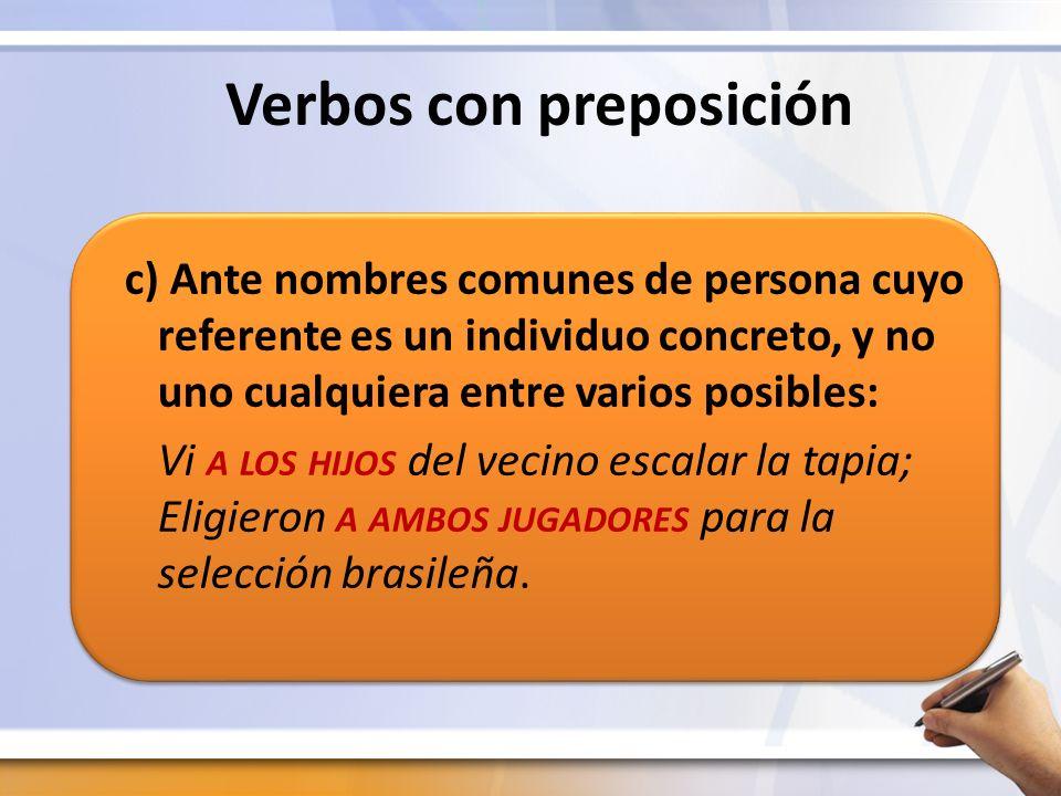Verbos con preposición