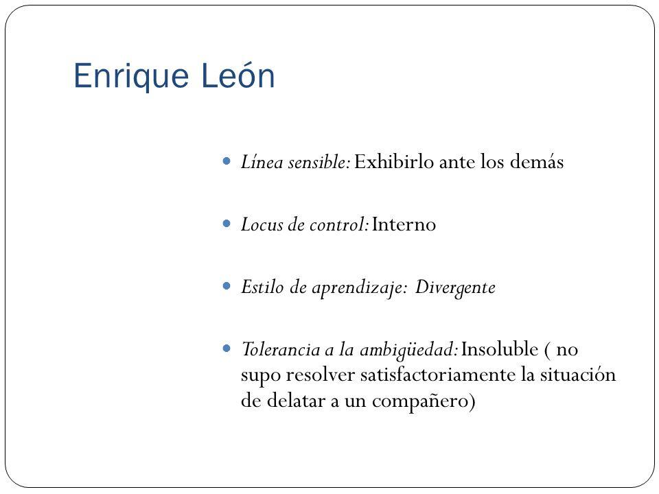 Enrique León Línea sensible: Exhibirlo ante los demás