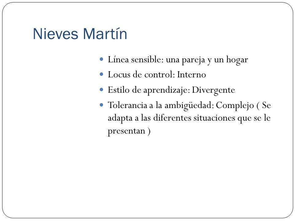 Nieves Martín Línea sensible: una pareja y un hogar