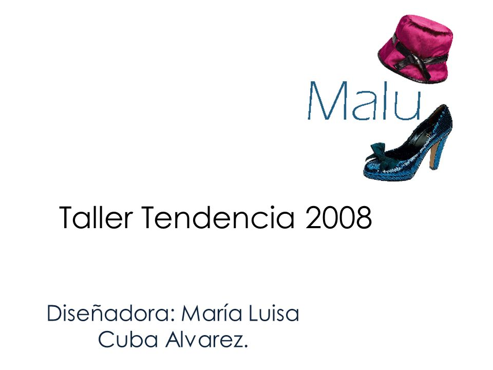 Diseñadora: María Luisa Cuba Alvarez.