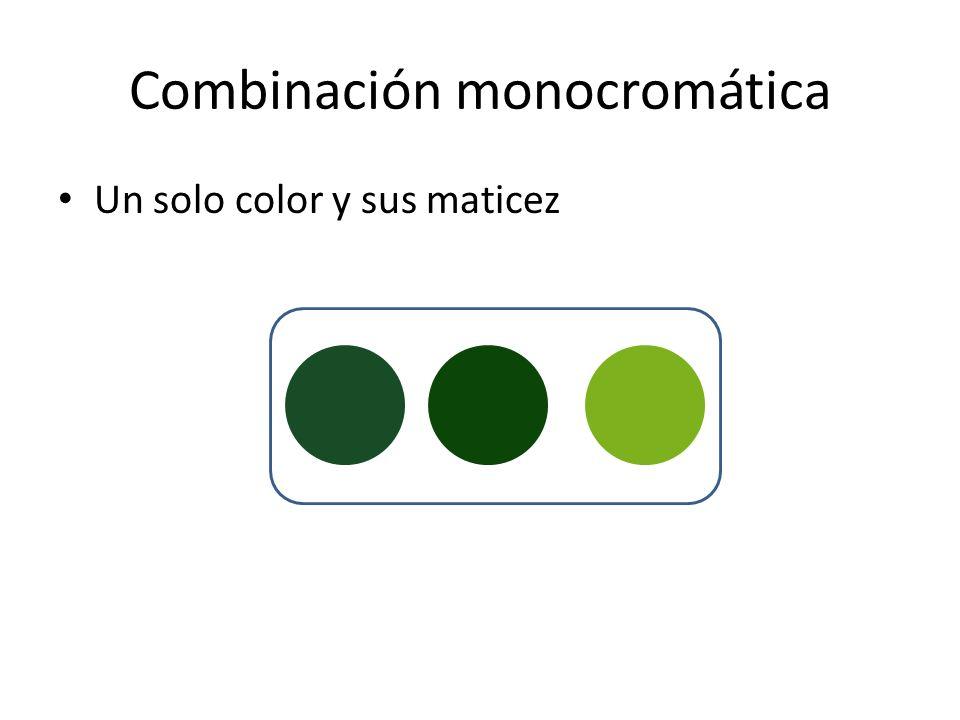 Combinación monocromática