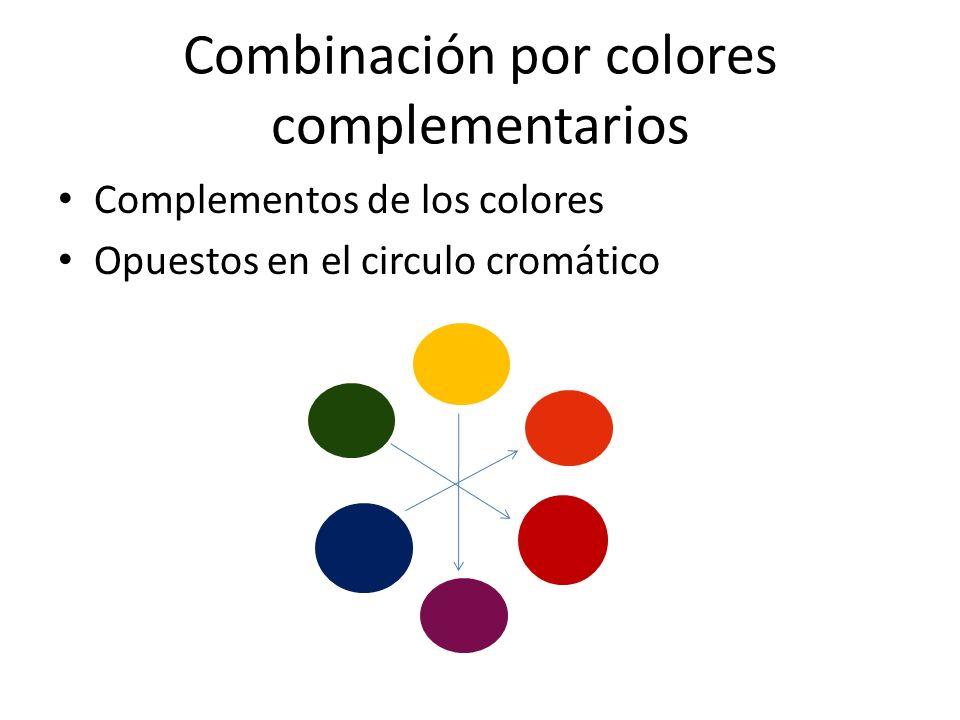 Combinación por colores complementarios
