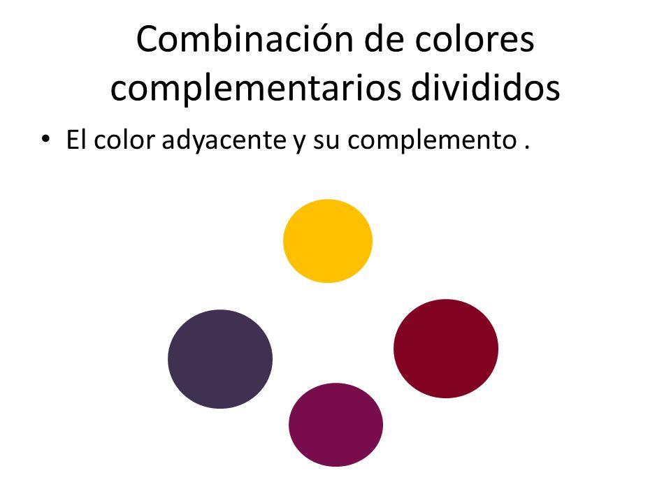 Combinación de colores complementarios divididos