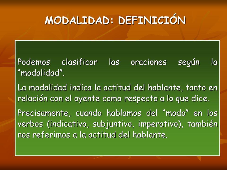 MODALIDAD: DEFINICIÓN