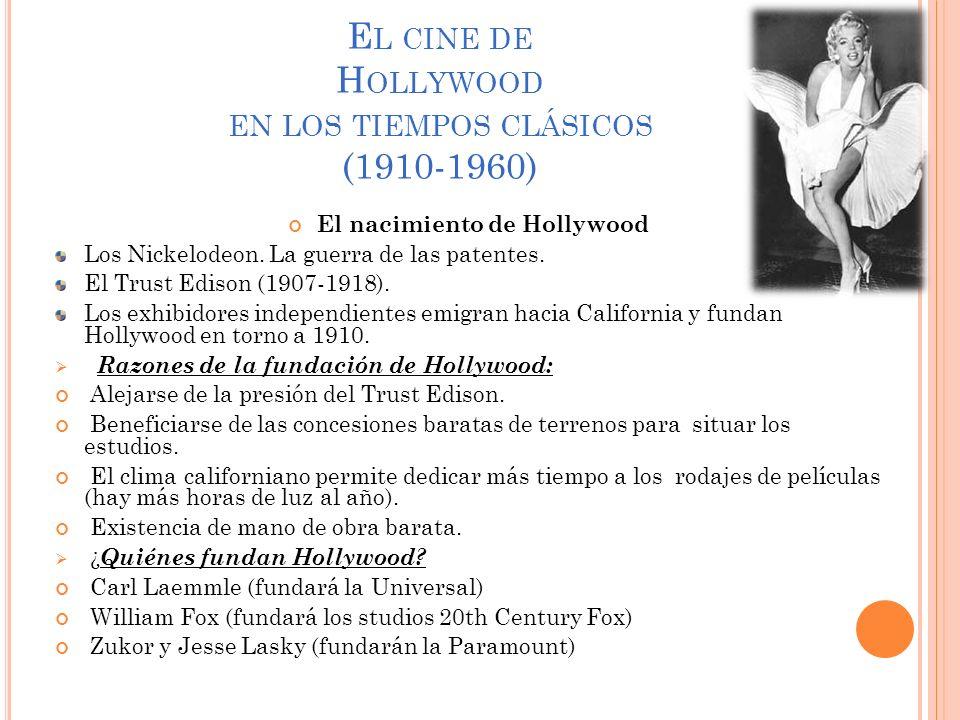 El cine de Hollywood en los tiempos clásicos (1910-1960)