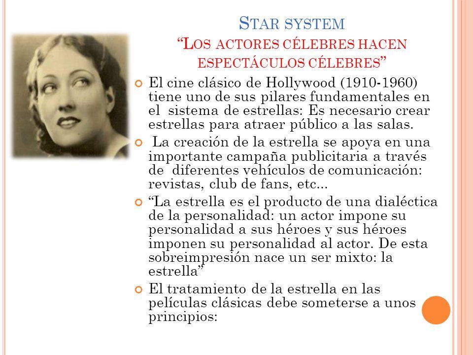 Star system Los actores célebres hacen espectáculos célebres