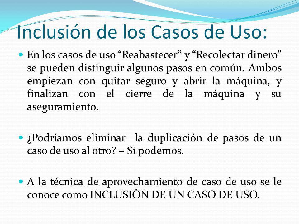 Inclusión de los Casos de Uso: