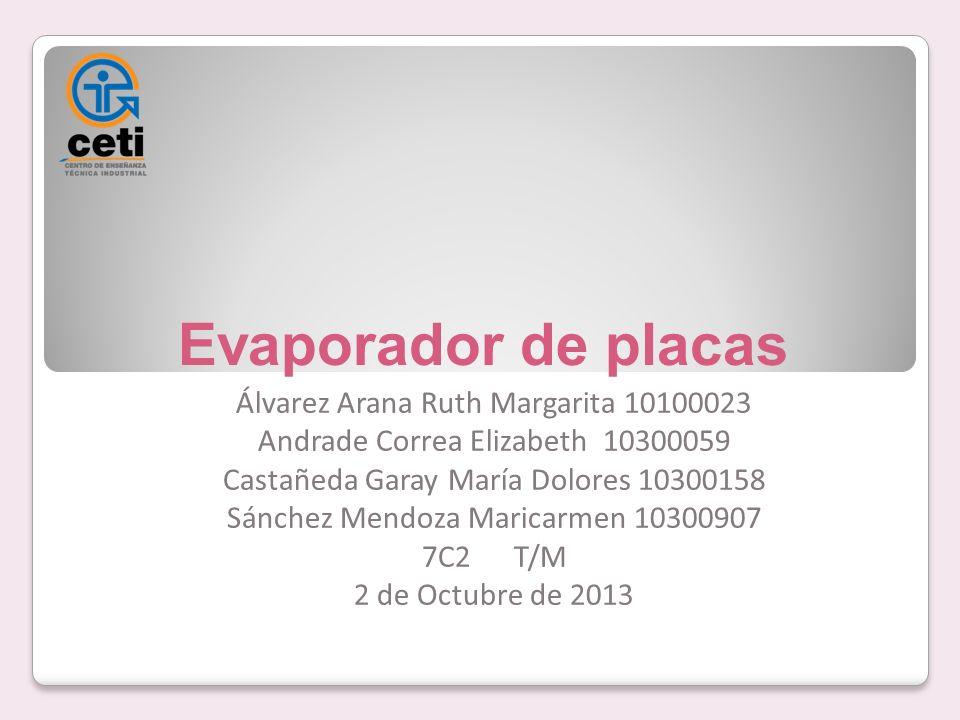 Evaporador de placas Álvarez Arana Ruth Margarita 10100023