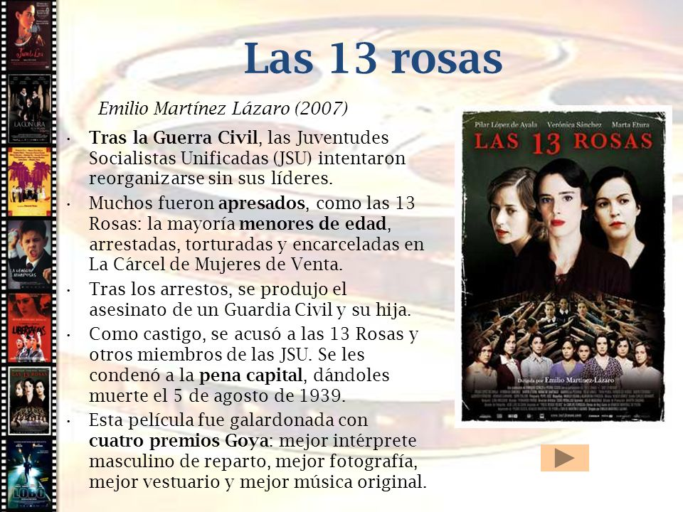 Cine histórico Las 13 rosas Emilio Martínez Lázaro (2007)