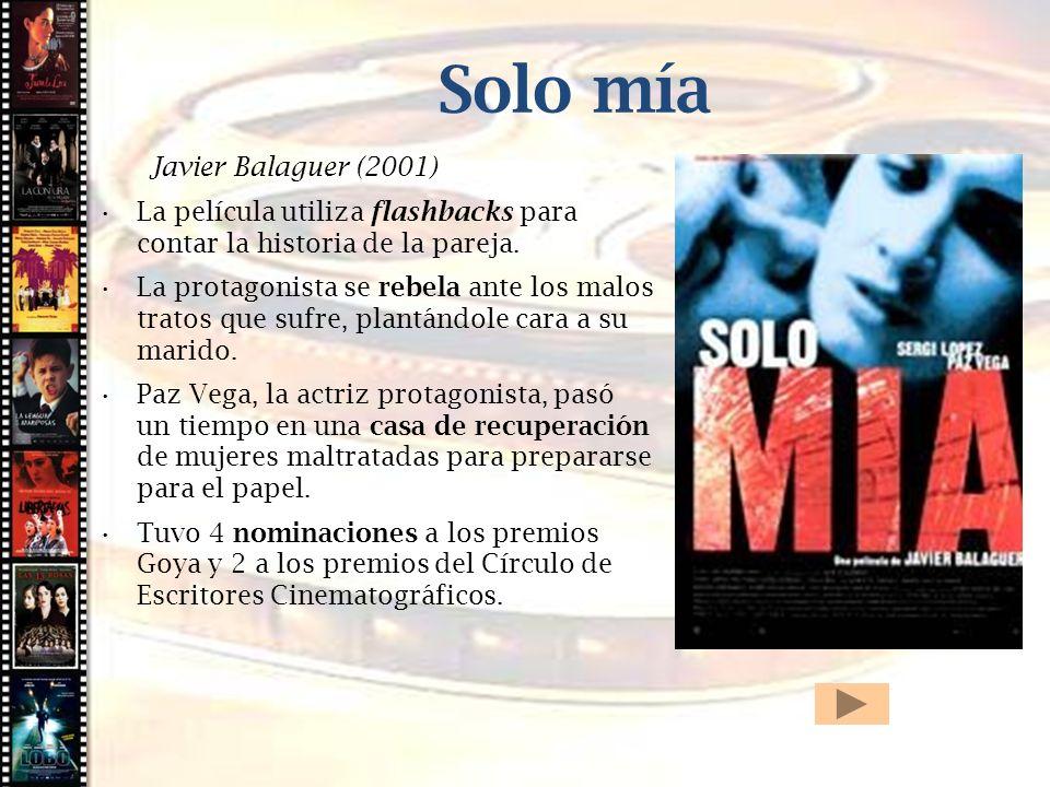 Cine histórico Solo mía Javier Balaguer (2001)