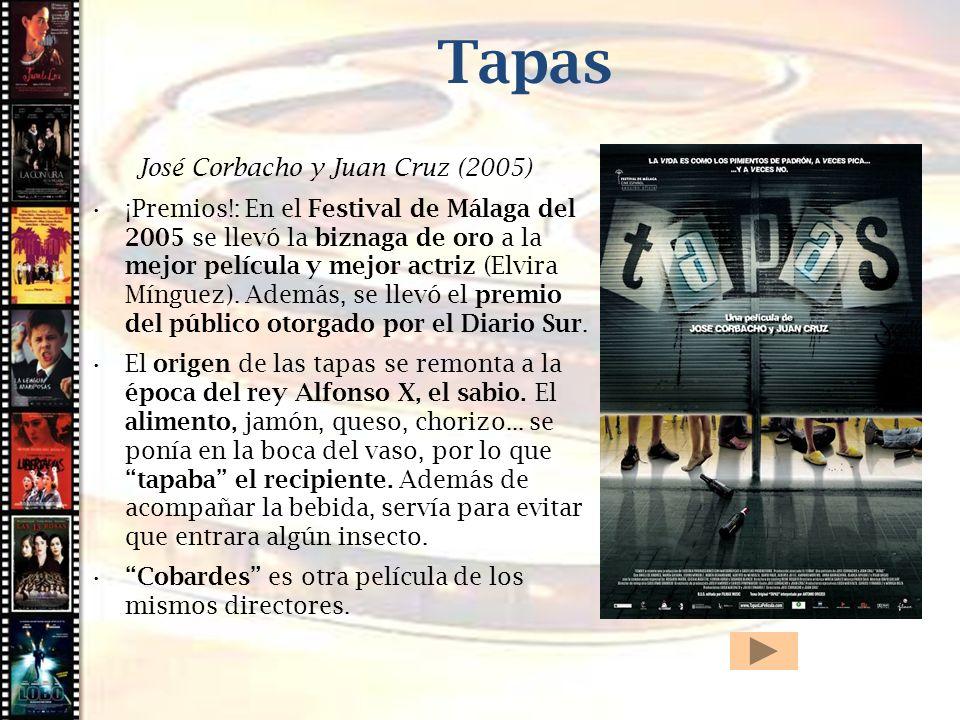 Tapas Cine histórico José Corbacho y Juan Cruz (2005)