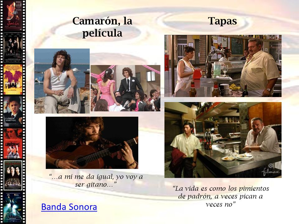 Camarón, la película Tapas