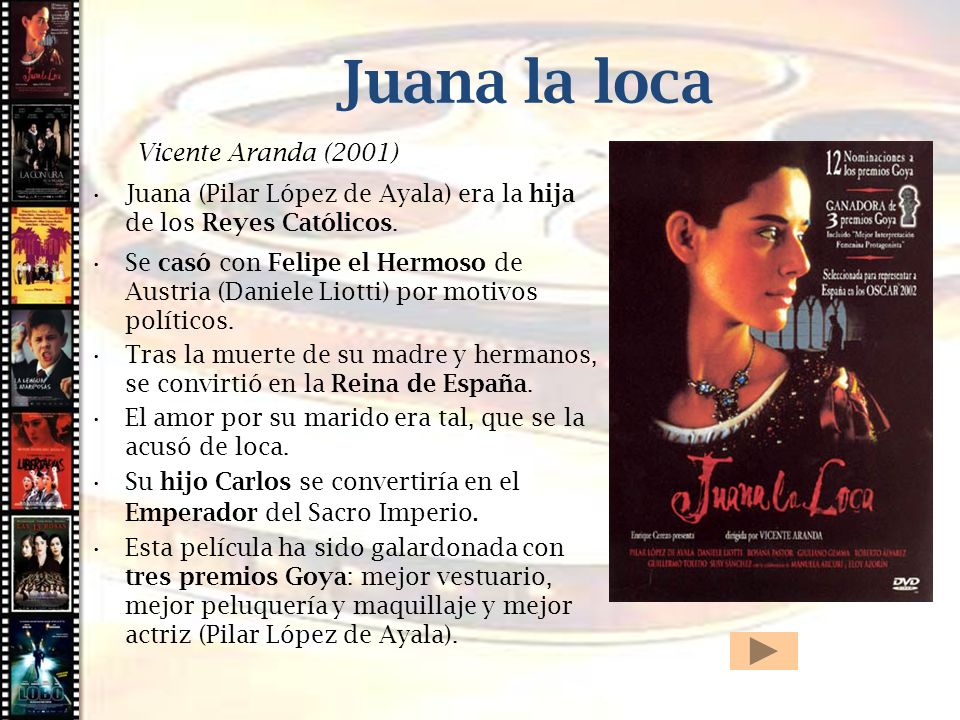 Cine histórico Juana la loca Vicente Aranda (2001)
