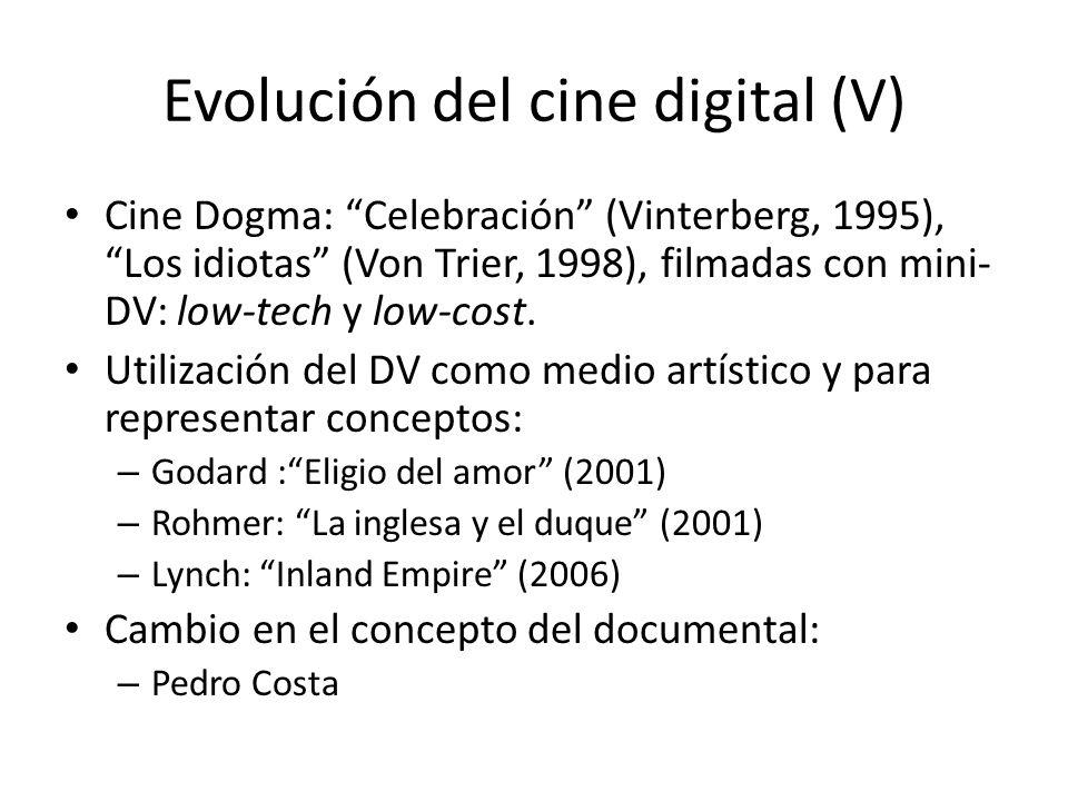 Evolución del cine digital (V)