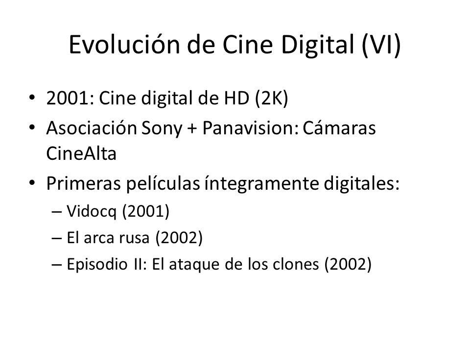 Evolución de Cine Digital (VI)