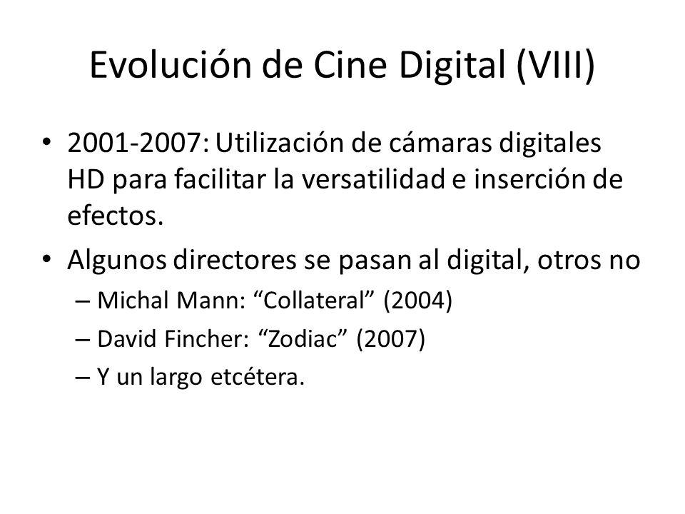 Evolución de Cine Digital (VIII)
