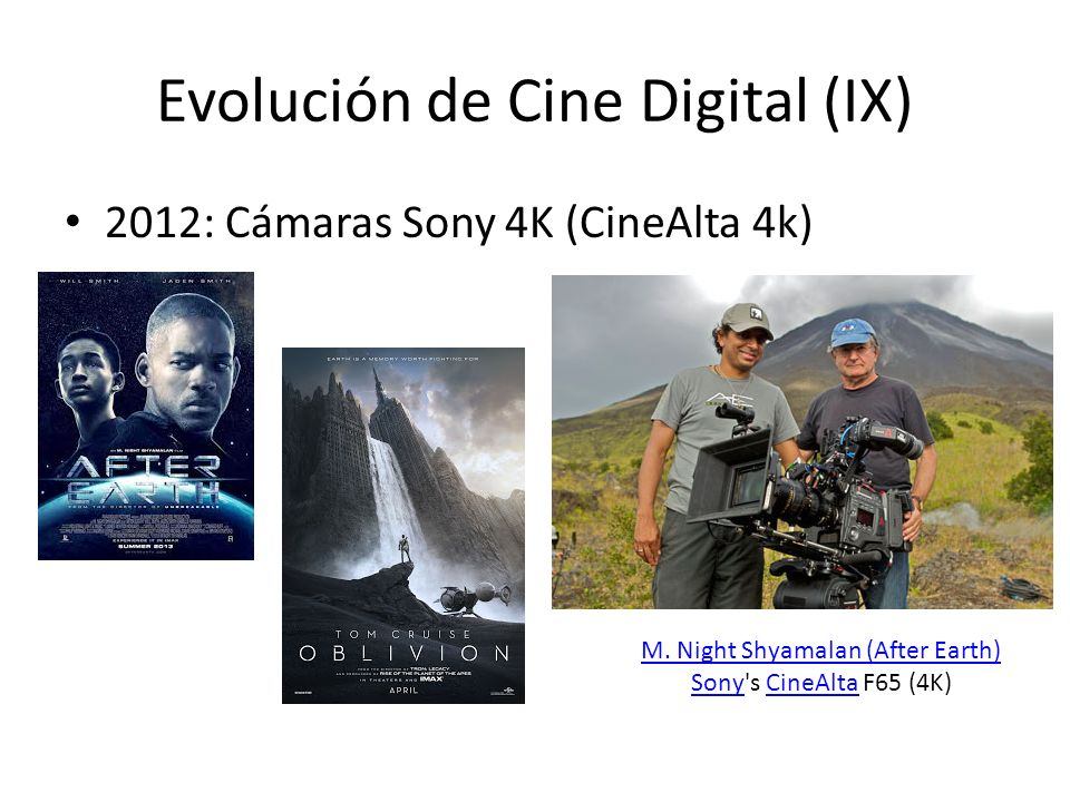 Evolución de Cine Digital (IX)