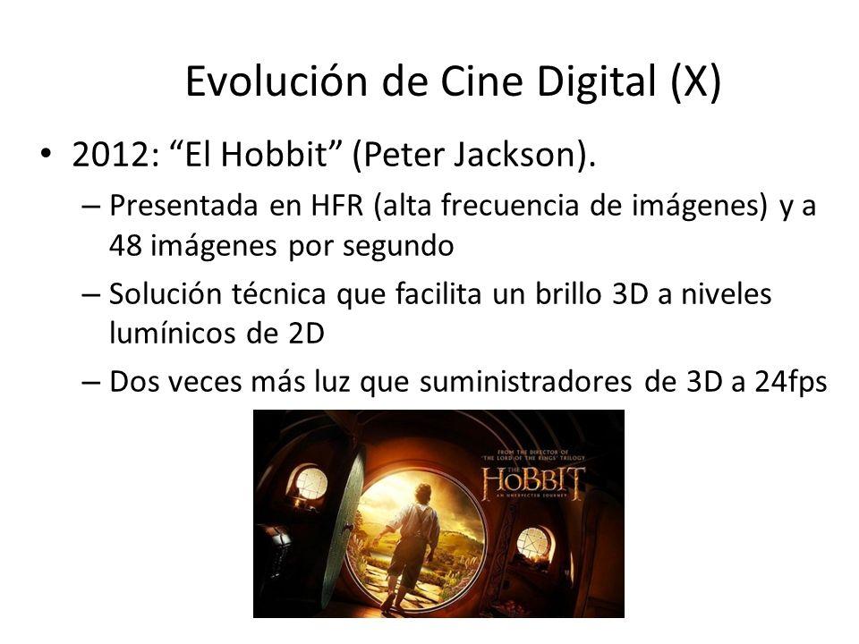 Evolución de Cine Digital (X)