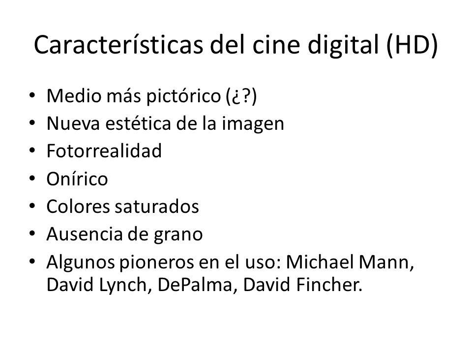 Características del cine digital (HD)