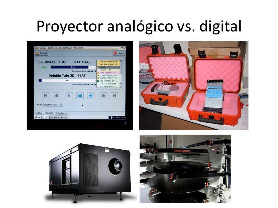 Proyector analógico vs. digital