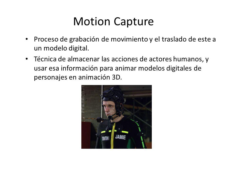 Motion Capture Proceso de grabación de movimiento y el traslado de este a un modelo digital.