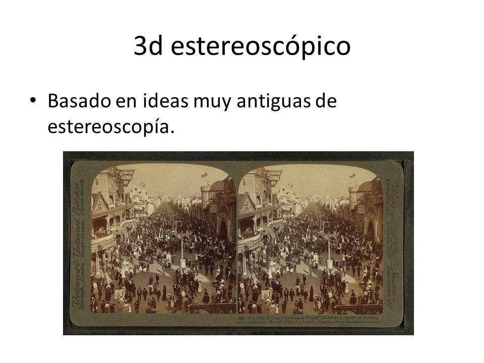 3d estereoscópico Basado en ideas muy antiguas de estereoscopía.