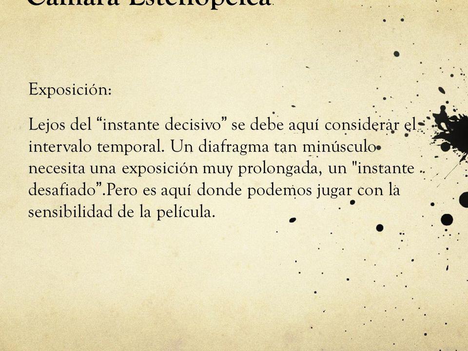 Cámara Estenopeica Exposición: