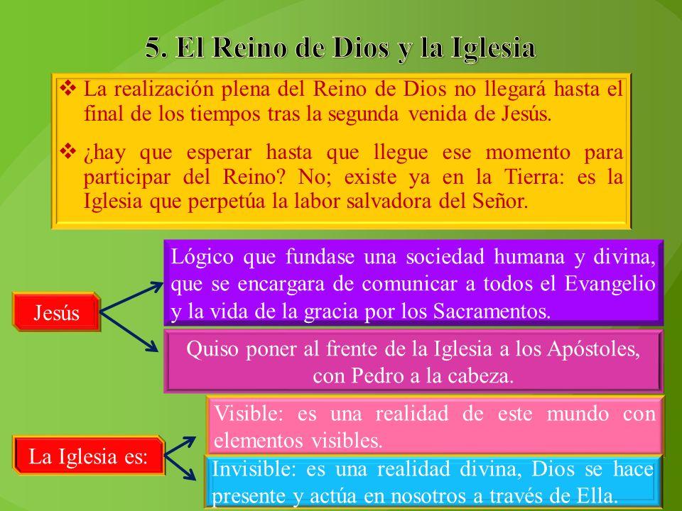 5. El Reino de Dios y la Iglesia