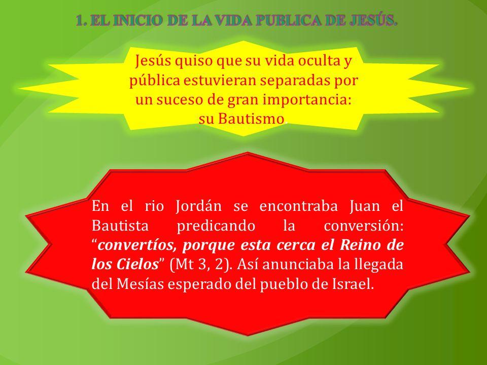 1. EL INICIO DE LA VIDA PUBLICA DE JESÚS.