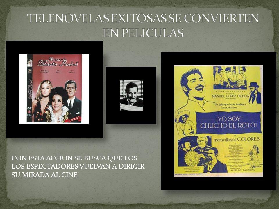 TELENOVELAS EXITOSAS SE CONVIERTEN EN PELICULAS