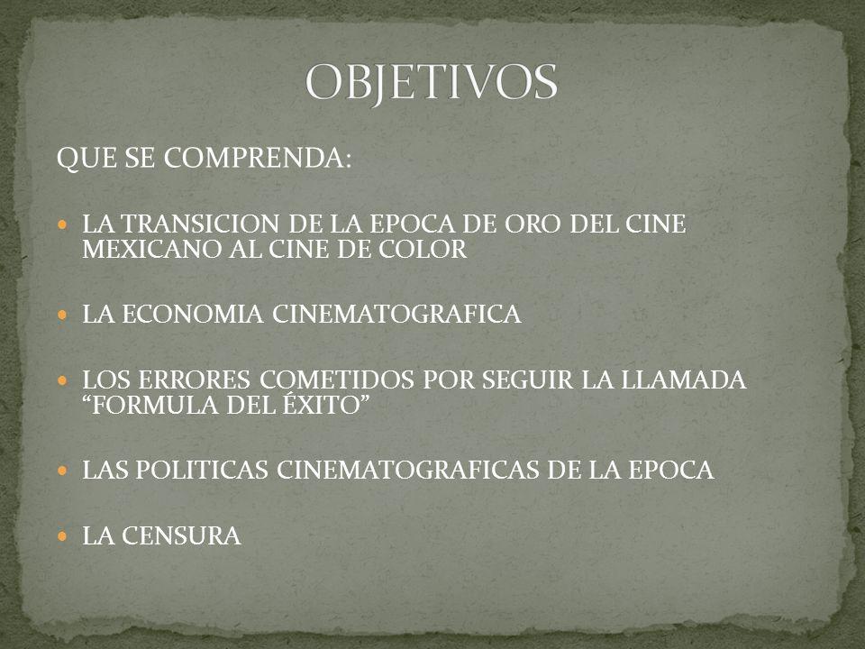 OBJETIVOS QUE SE COMPRENDA: