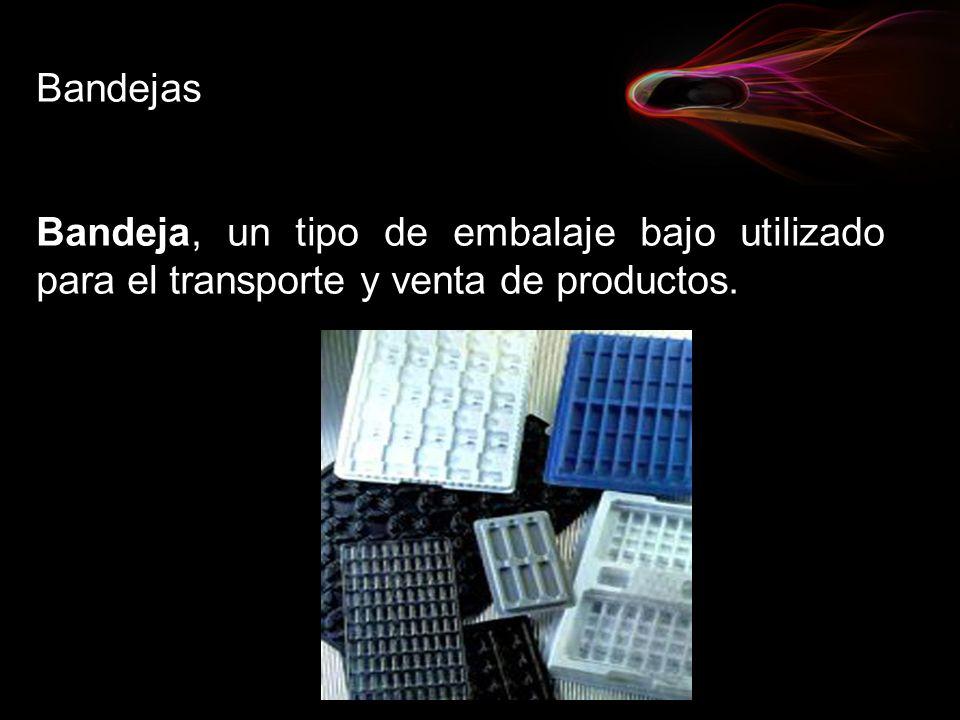 Bandejas Bandeja, un tipo de embalaje bajo utilizado para el transporte y venta de productos.