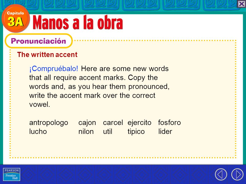 ¡Compruébalo! Here are some new words