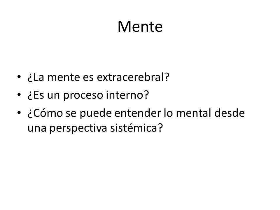 Mente ¿La mente es extracerebral ¿Es un proceso interno