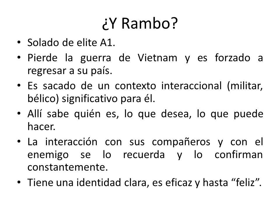 ¿Y Rambo Solado de elite A1.