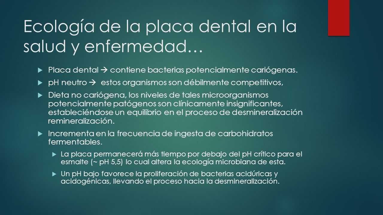 Ecología de la placa dental en la salud y enfermedad…