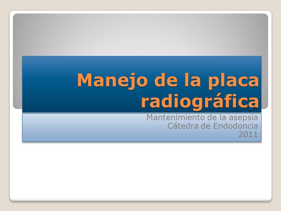 Manejo de la placa radiográfica
