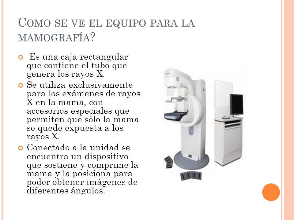 Como se ve el equipo para la mamografía